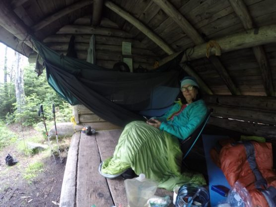 Hammock in the lean to